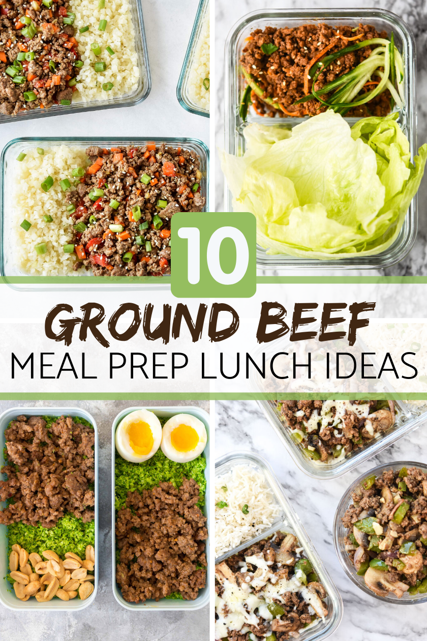 10 Ground Beef Meal Prep Lunch Ideas Meal Plan Addict Crockpotmealprep These 10 Ground Beef Meal Prep Lu Lunch Meal Prep Ground Beef Recipes Prepped Lunches