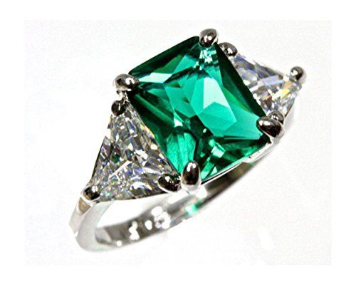 5 cttw Sterling Silver 925 3 Stone Green Emerald Trillion Cut Cubic Zirconia Ring (Sizes 3-13) Elation Diamonds http://www.amazon.com/dp/B00J3FE9WS/ref=cm_sw_r_pi_dp_ka69tb02XNGG2