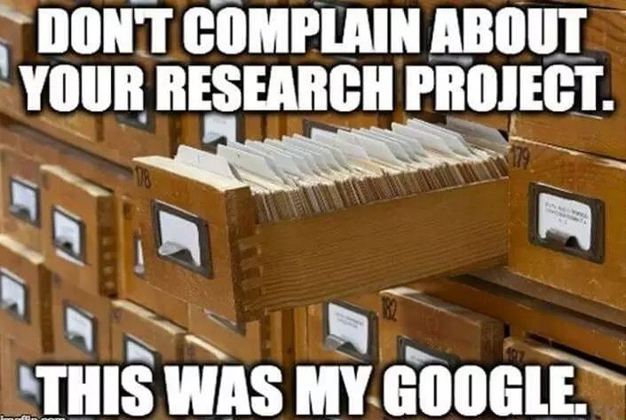 Image result for don't complain about your research project this was my google