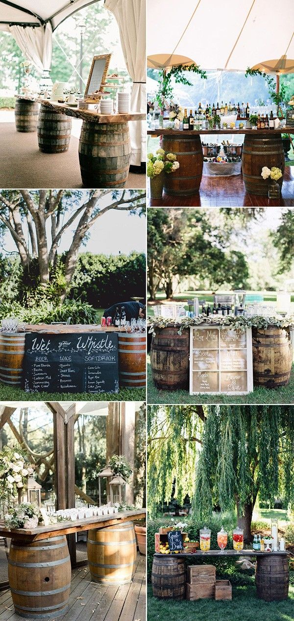 Country Wedding Ideas-26 Great Ways to Use Wine Barrels - EmmaLovesWeddings
