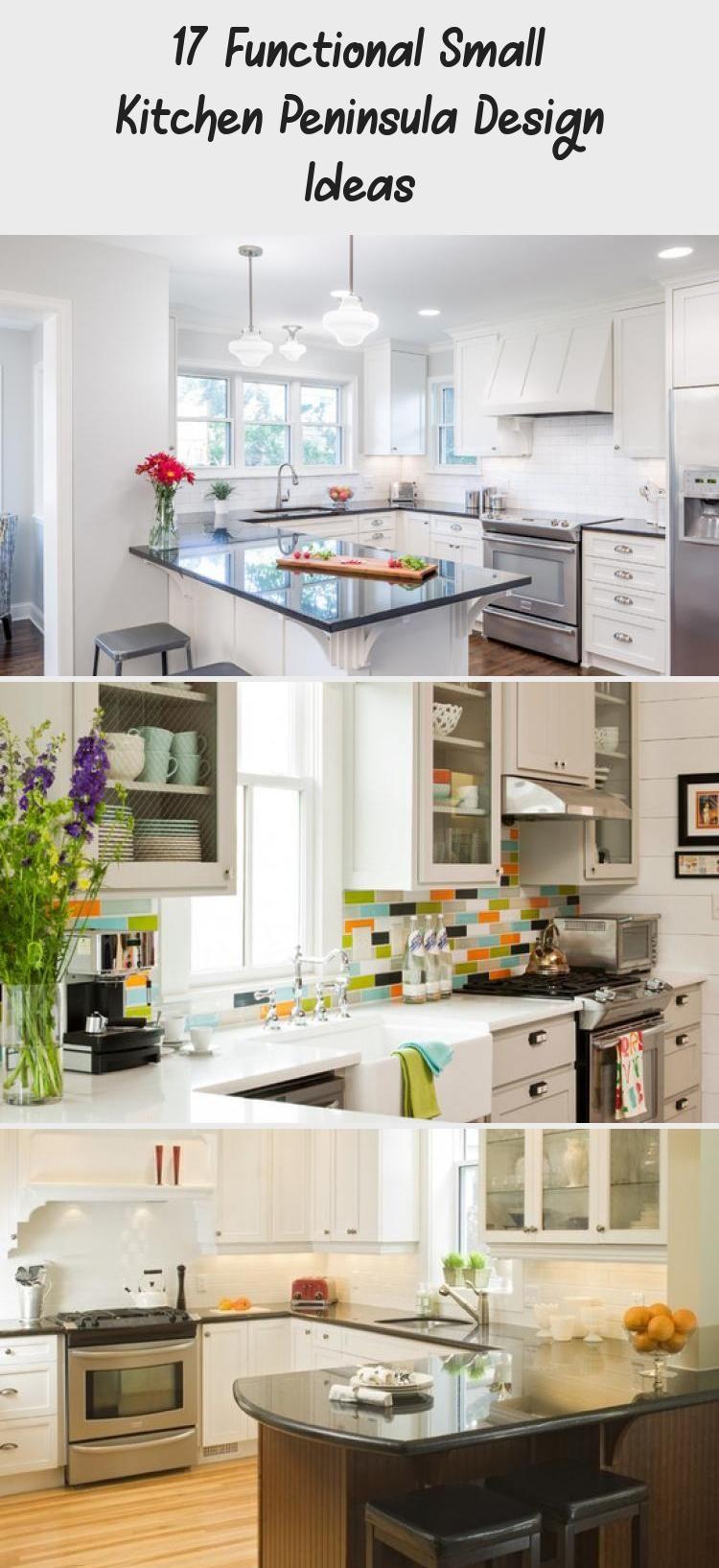 17 Functional Small Kitchen Peninsula Design Ideas