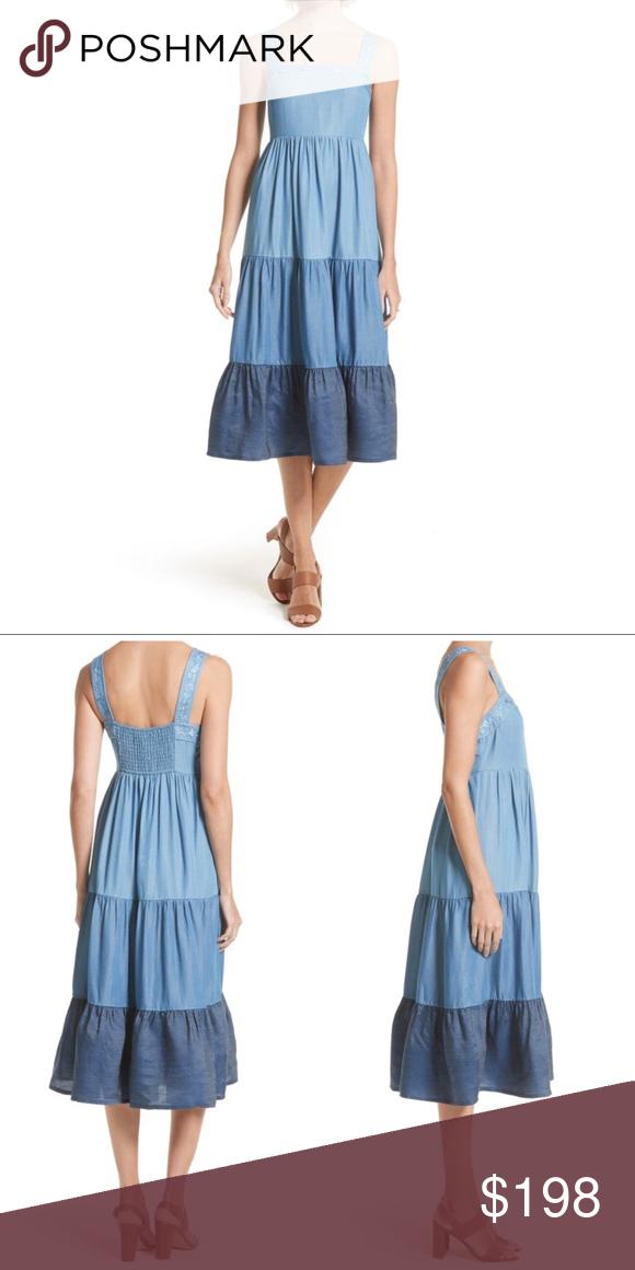 7e24c1faaee Kate Spade Broome Street Chambray Midi Patio Dress New with tags. 100%  tencel -