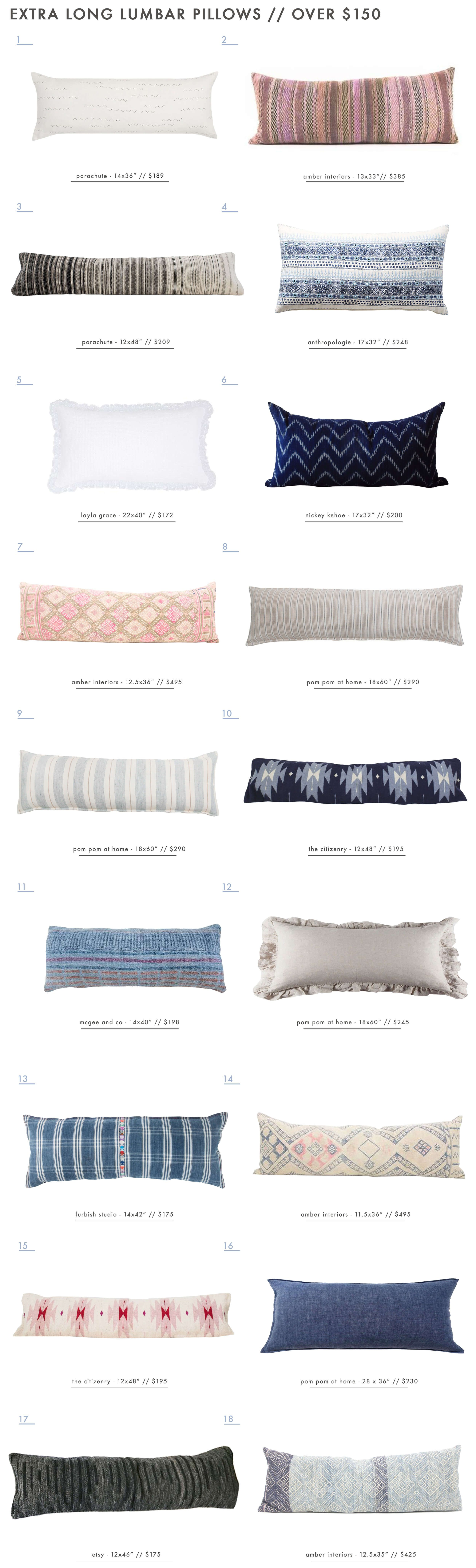 Our Extra Long Lumbar Pillow Roundup | Dormitorio, Para el ...