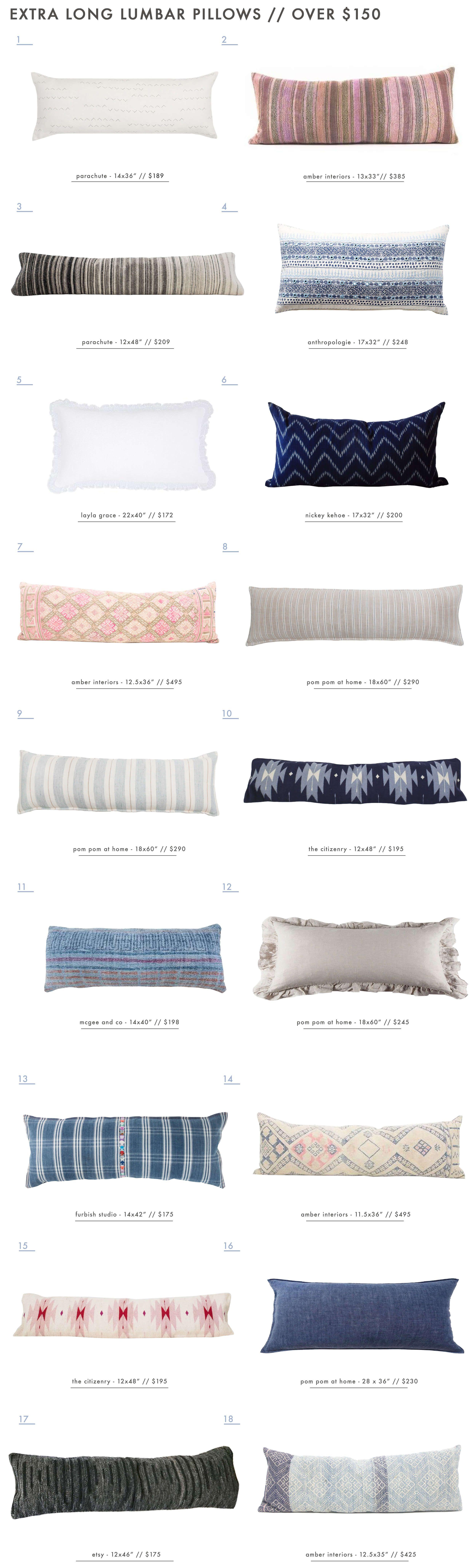 Our Extra Long Lumbar Pillow Roundup | Dormitorio, Para el ...