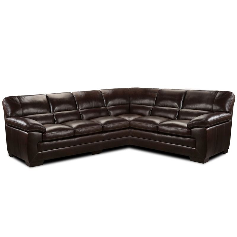 Simon Li Midas Leather Sectional | Weekends Only Furniture And Mattress