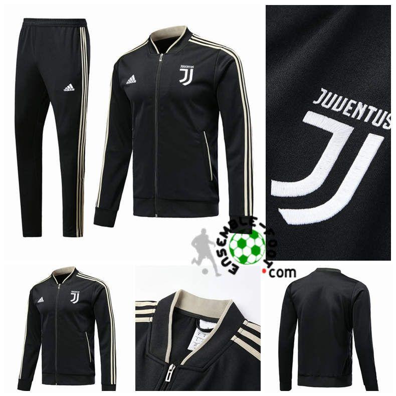 Survetement de Foot Veste Juventus Noir 20182019 pas cher