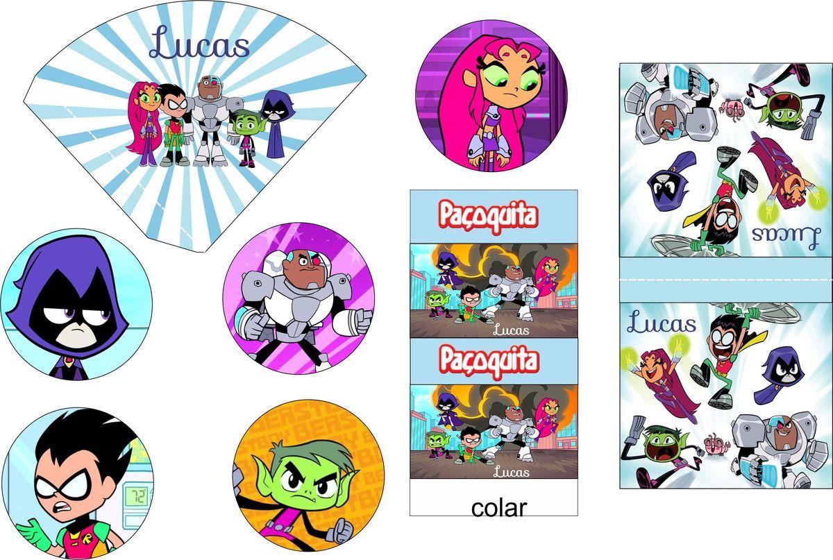 Kit Digital Jovens Titans Em Ação Para Imprimir Em Casa Ou Na