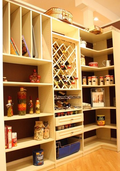 California Closets Pantry Solution With Wine Rack, Spice Drawers ...