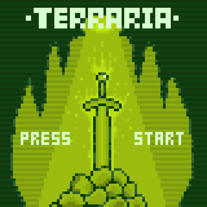 Terraria Retro Art Terraria Retro Retro Art Video Games Games