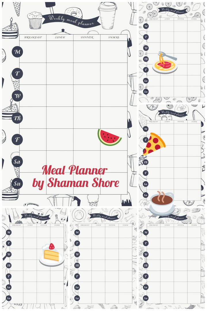 Daily Meal Planner PDF A4, Meal Planning Download, Meal Plan Sheets - daily menu planner template
