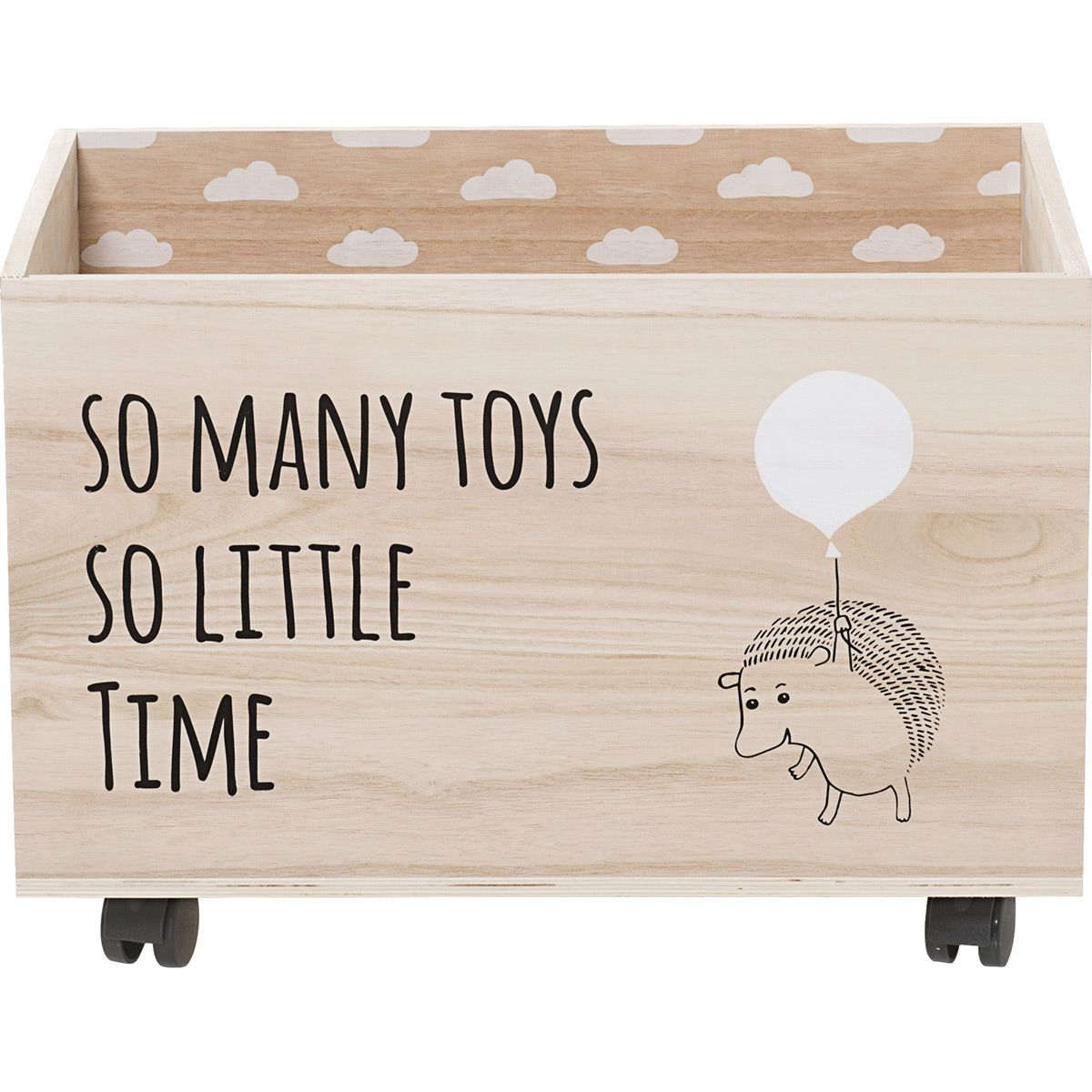 Coffre A Jouets A Roulette Herisson Bloomingville Diy Toy Storage Toy Boxes Storage Kids Room