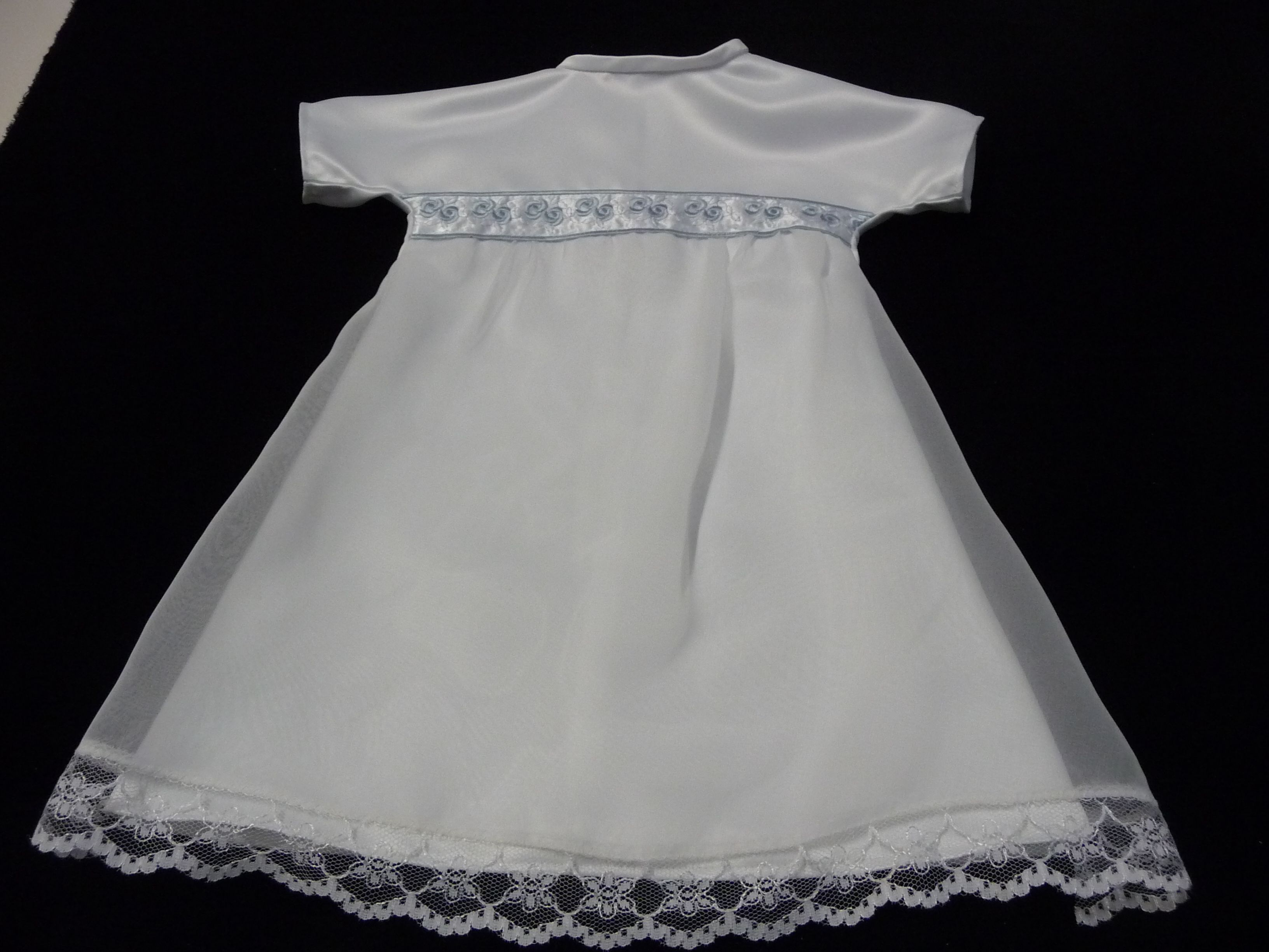 Angel gown with embroidered ribbon feature. | Angels | Pinterest ...