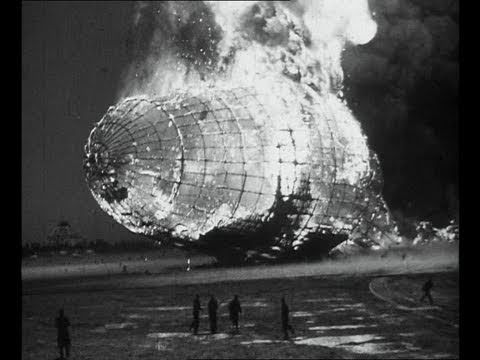 Film footage of the Hindenburg disaster / incredible, sad
