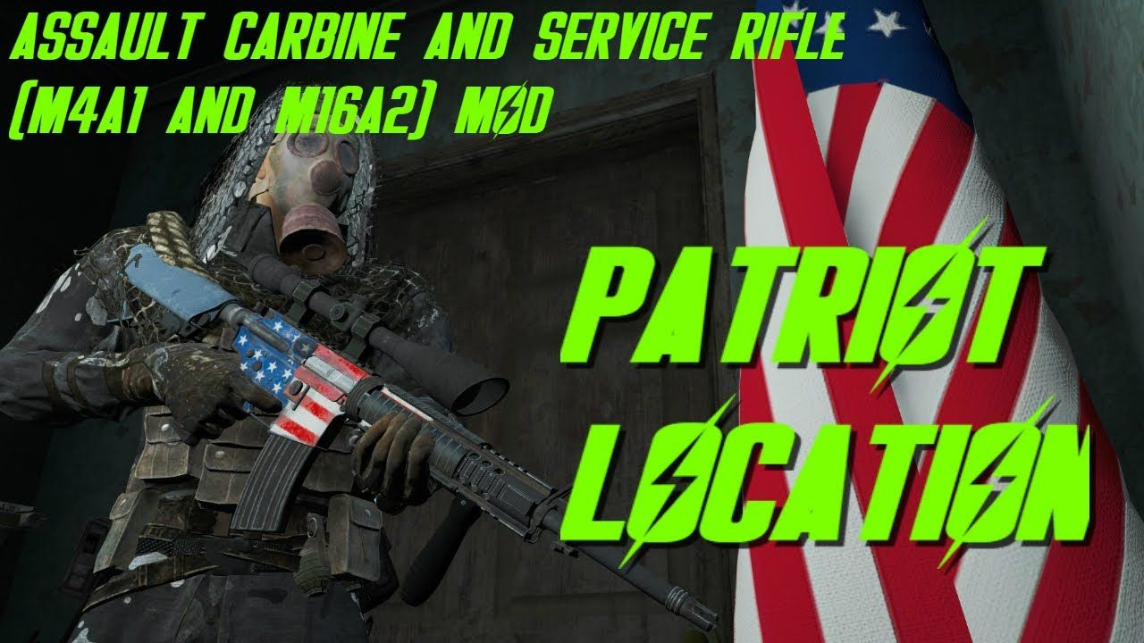 Fallout 4: (M4A1 and M16A2 mod) Patriot #Fallout4 #gaming
