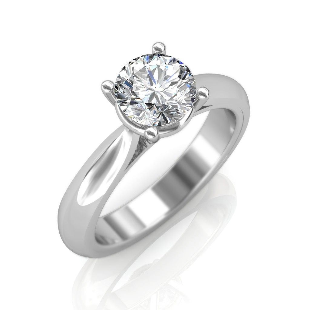 0 30 Carat 18k White Gold Clic Engagement Ring Diamondring Womensring Diamonds