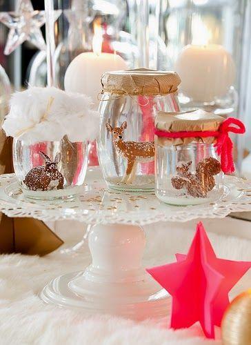 x4duros.com: Deco Navidad: La mesa de Nochebuena en dorado y rosa