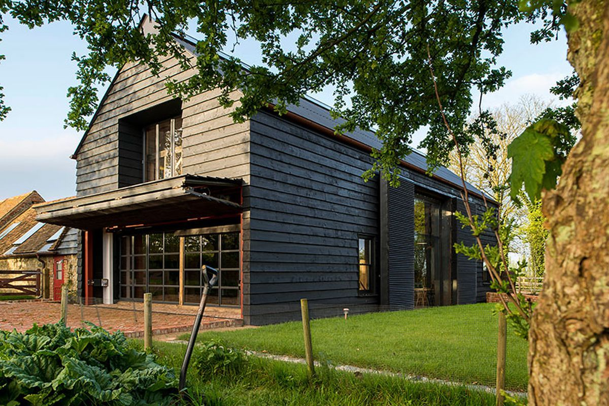Liddicoat & Goldhill designed the Ancient Party Barn, a green barn  conversion project with a low-energy footprint in Kent.