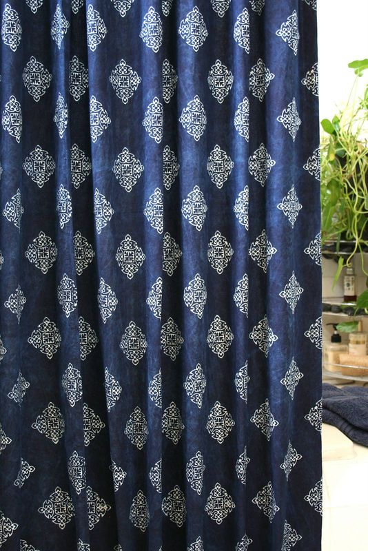 Curtains Ideas Batik Shower Curtain Fabric Shower Curtain In