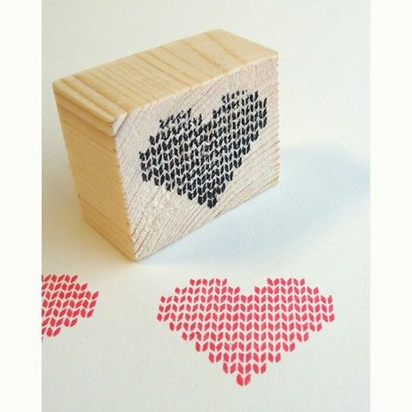 Heart Stamp Knitted Pattern