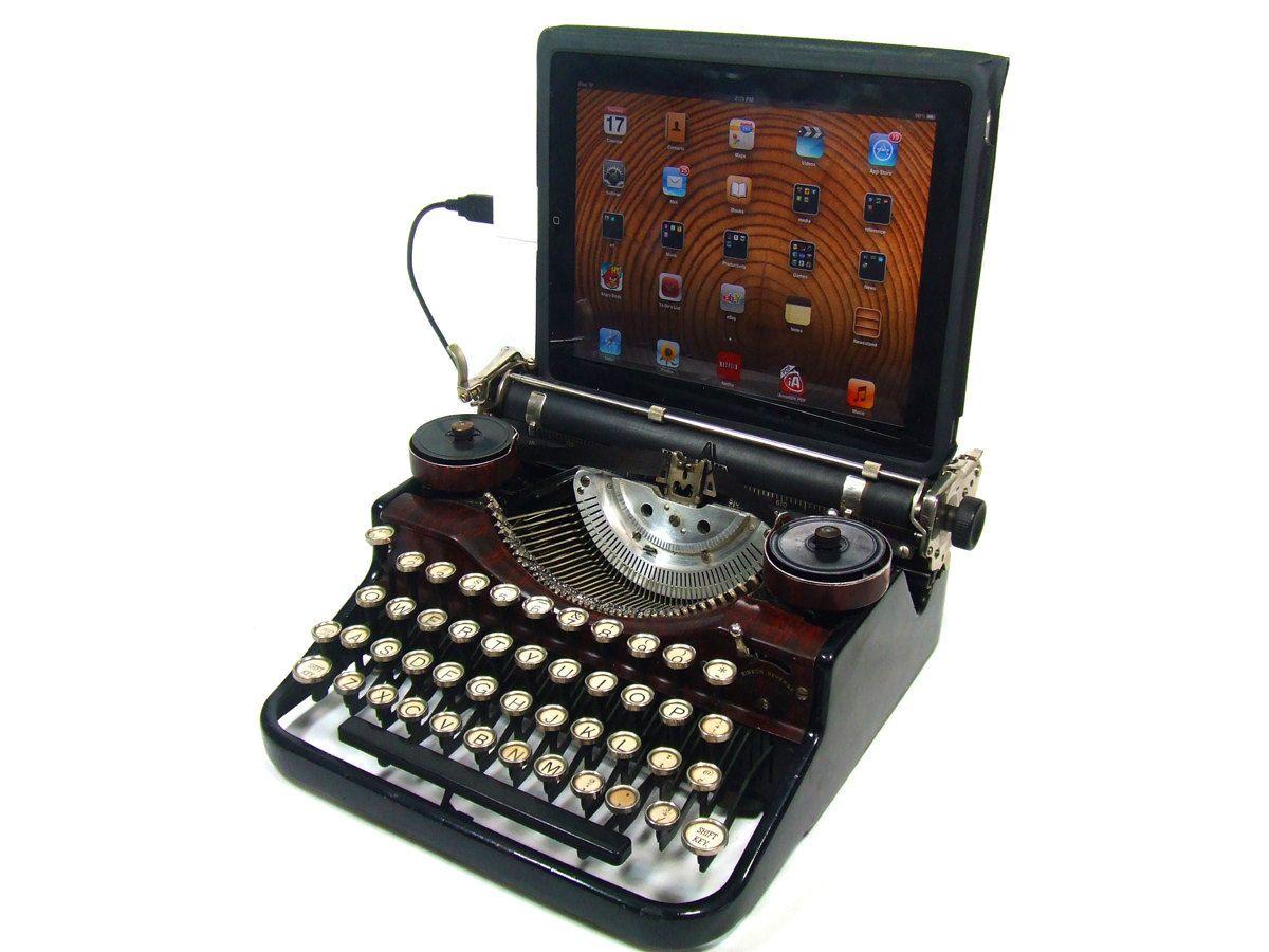 Usb Typewriter Underwood With Faux Walnut Finish I Want This Maquina De Escribir Disenos De Unas Y Decoración De Unas