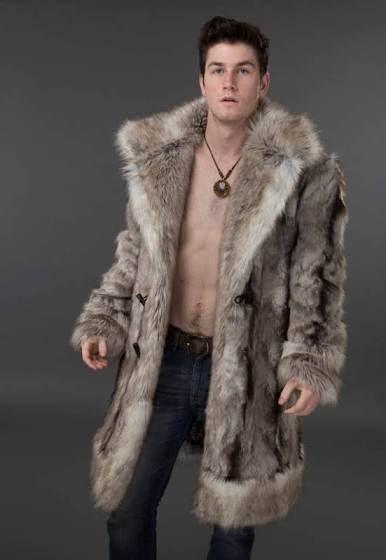4614a879cb1 men faux fur coat full-length