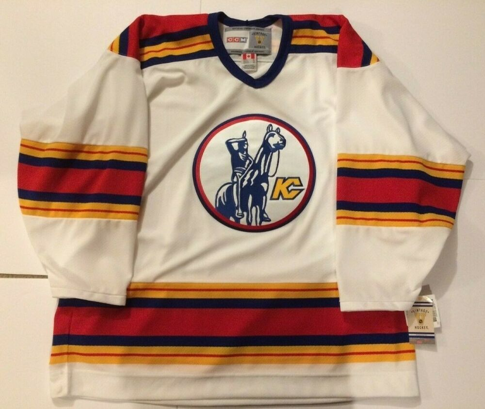 Kansas City Scouts 1974 Ccm Vintage Home White Nhl Jersey Xl New With Tags