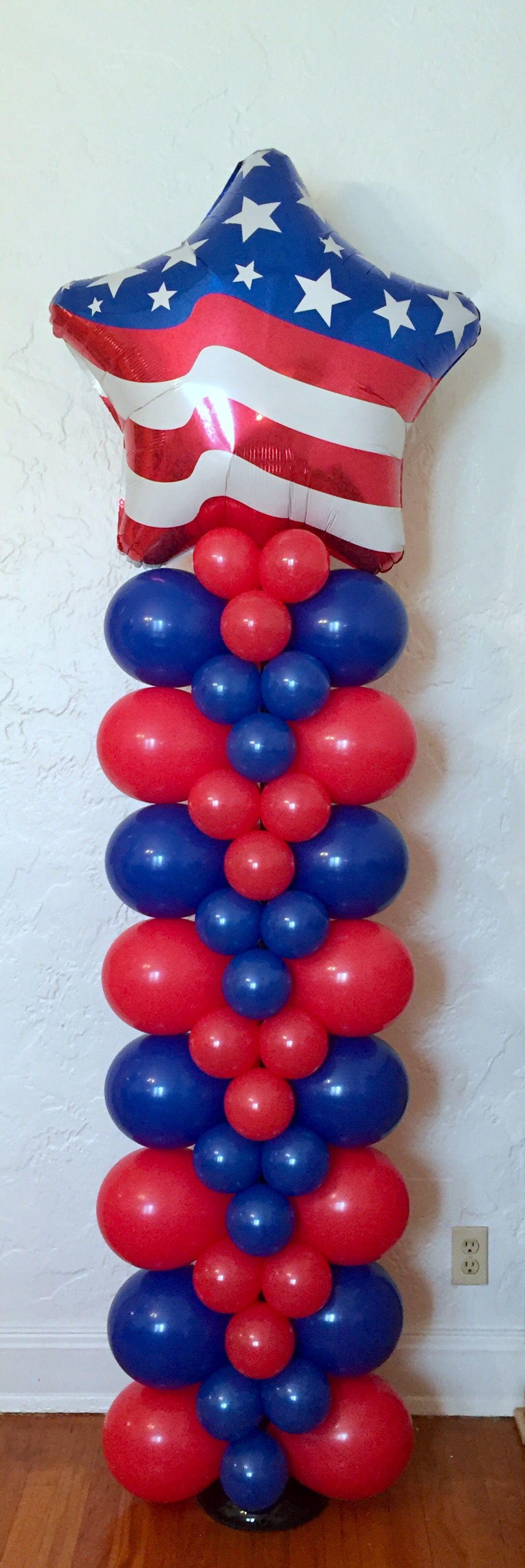 Red White u0026 Blue Star Patriotic Balloon