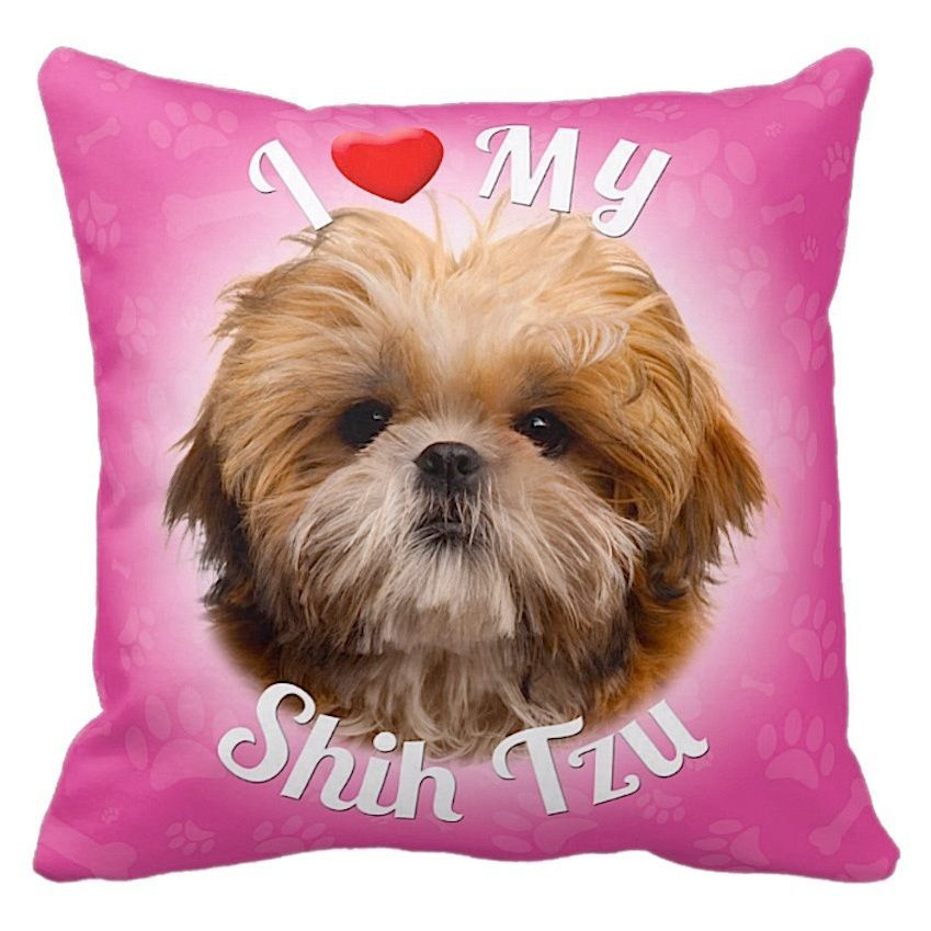 Ileesh I Love My Shih Tzu Throw Pillow Products Pinterest Fascinating Shih Tzu Decorative Pillows