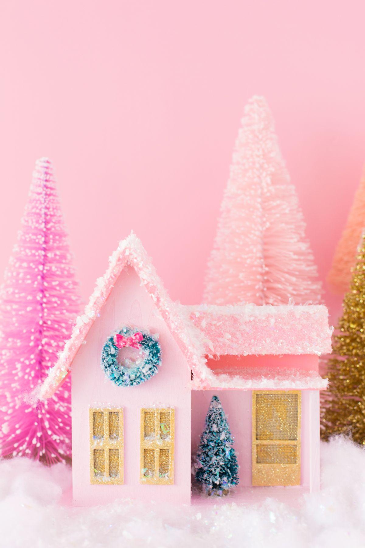 Diy Colorful Christmas Village Christmas Pinterest Dibujos
