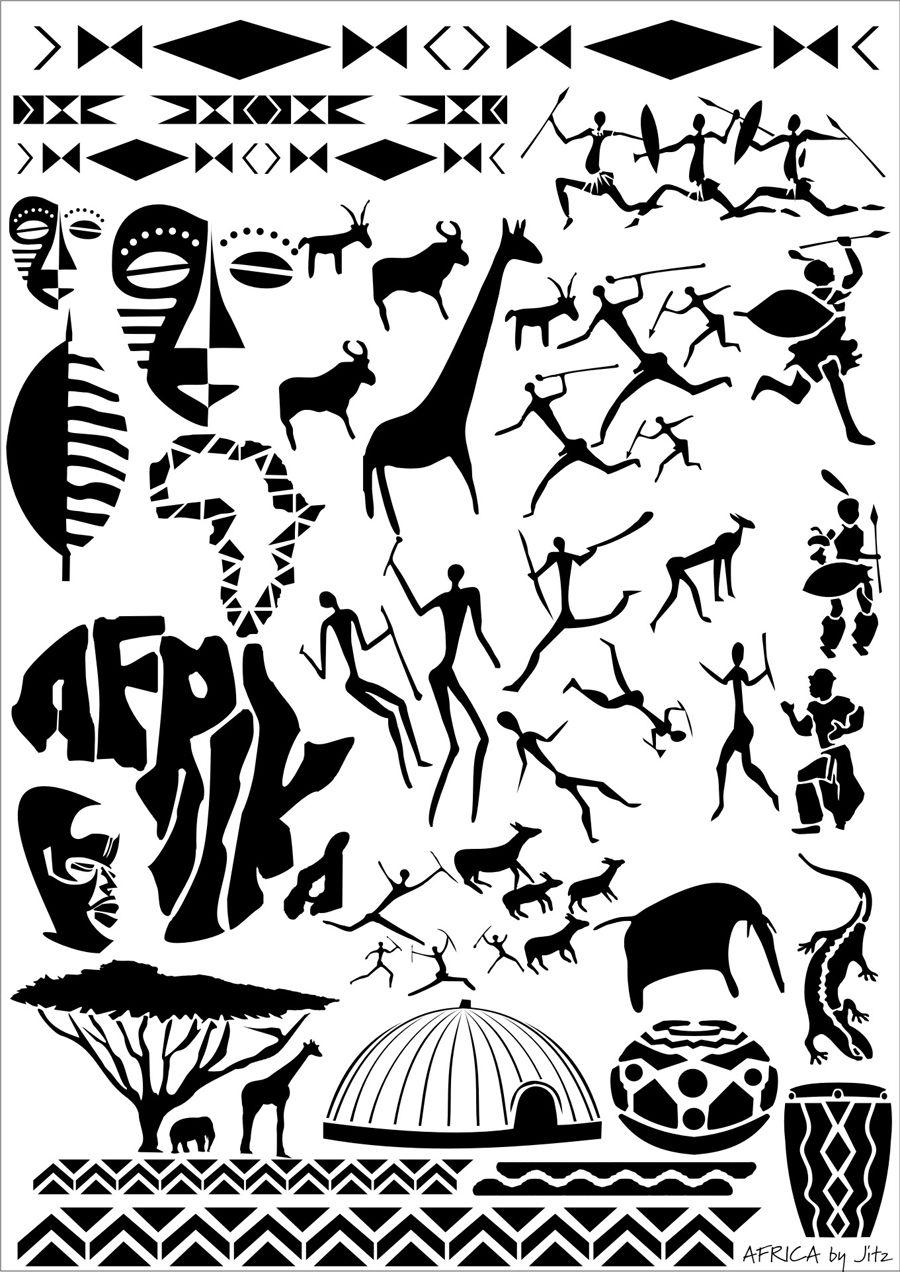 African Stencil Africa Airbrushing Art Stencil Images 2 Mit Bildern Afrikanische Symbole Afrikanisches Tattoo Afrika Tattoos