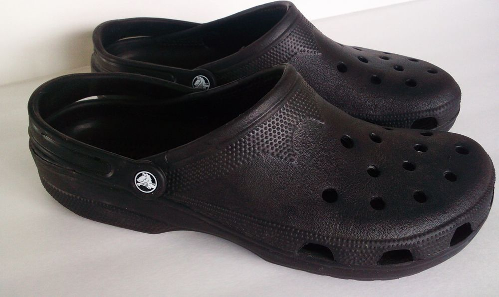 072d07616 CROCS Classics BIG XXL Size 14-15 BEACH CAYMAN mens CLOGS shoe BLACK  croslite  Crocs  CLOGS