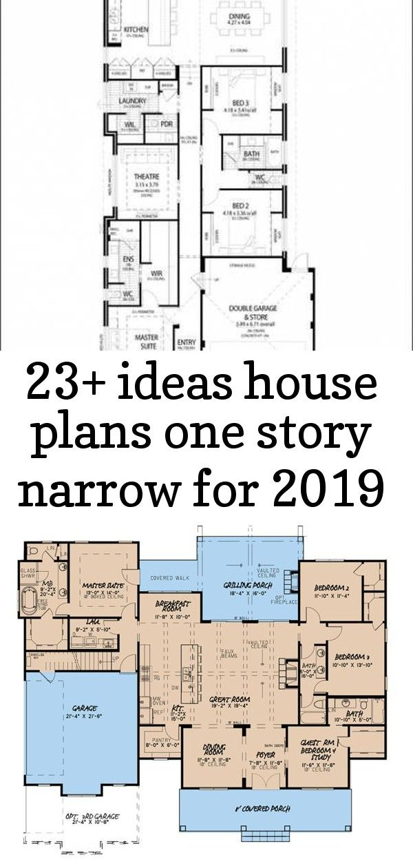 23 ideas house plans one story narrow for 2019 23 Ideas House Plans One Story Narrow For 2019 Country Style House Plan  4 Beds 35 Baths 2220 SqFt Plan  26 trendy Ideas ho...