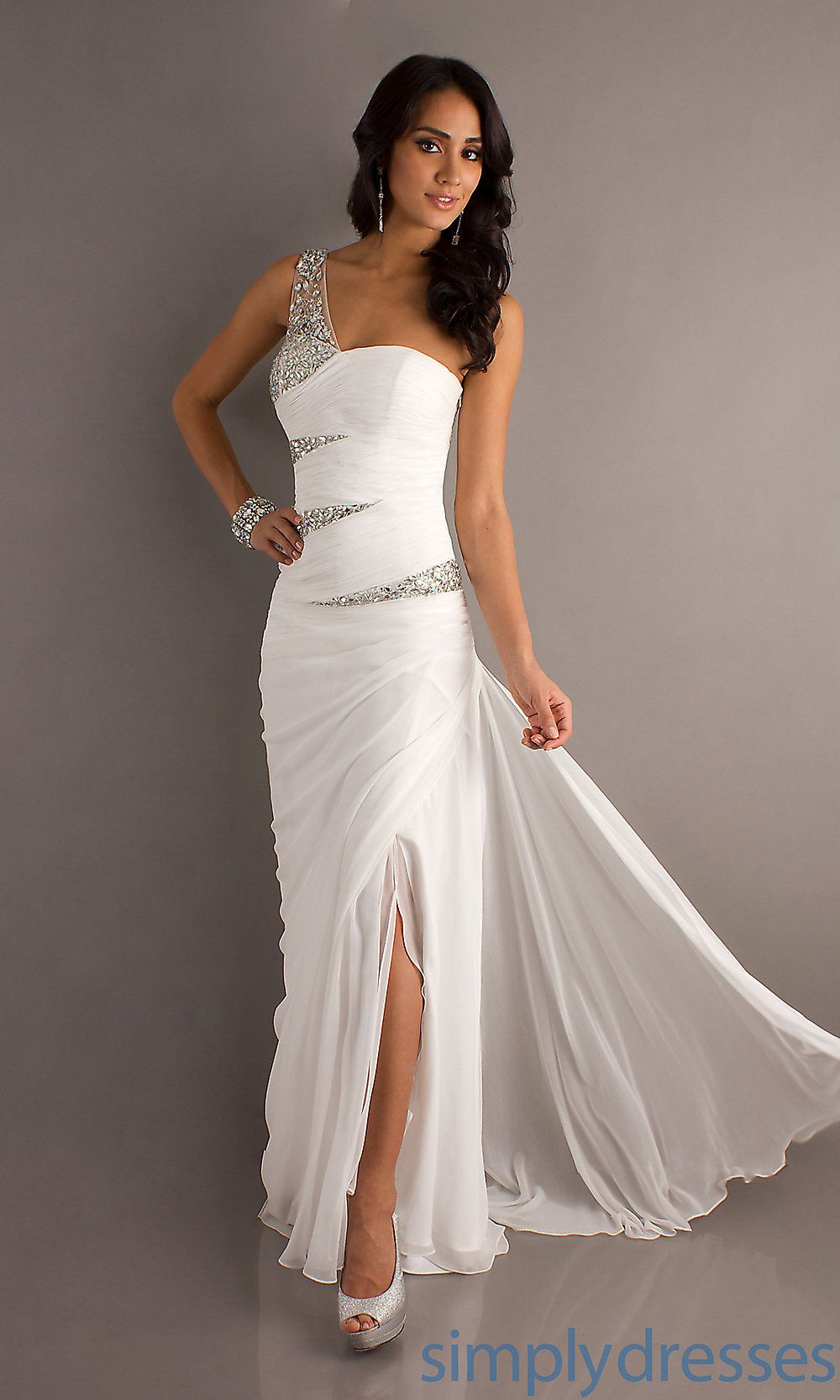 Wedding White Formal Gowns long one shoulder dress white formal simply dresses dresses