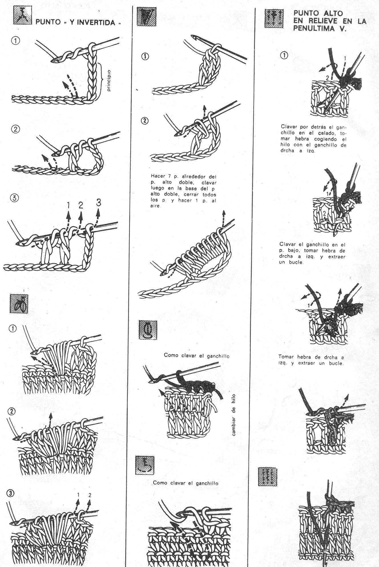 puntos b u00e1sicos crochet 3    crochet basic stitches 3