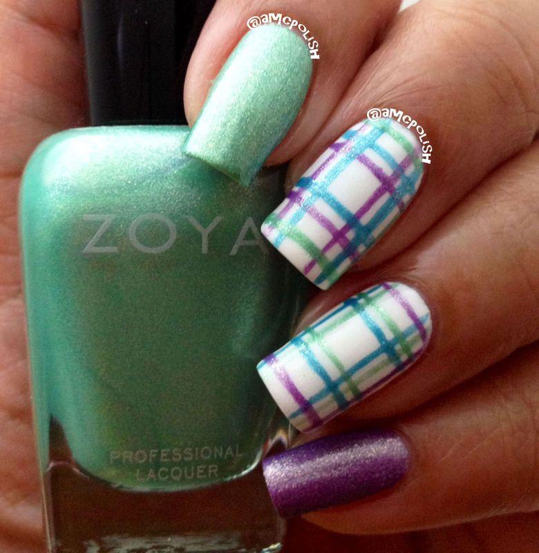 Plaid Nails Tutorial using Zoya Awaken polishes....so cute ...