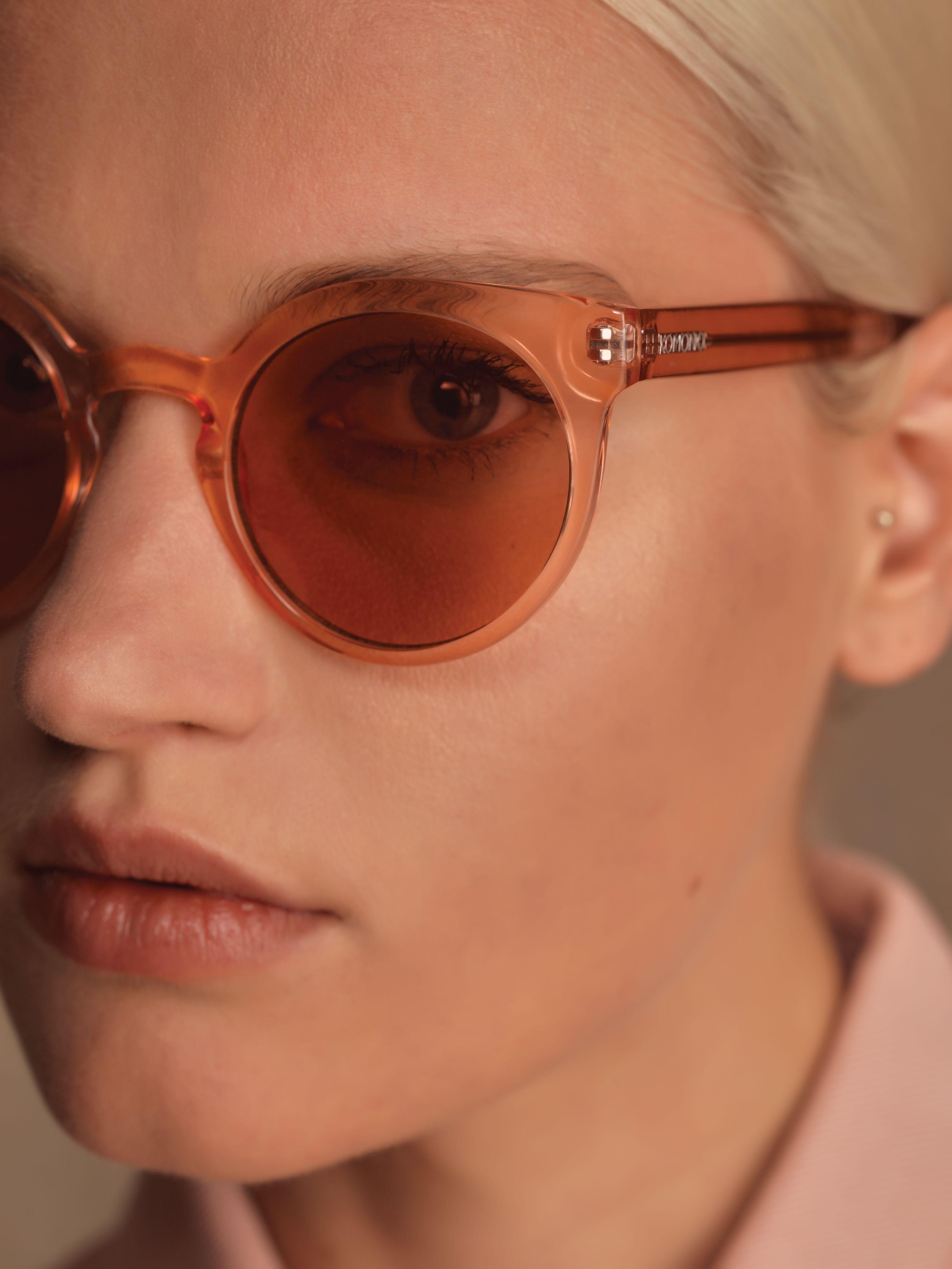 a870b1d6cebf When only peach will do  komono  sunglasses  campaign