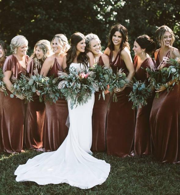 Real Jenny Yoo Velvet Wedding Color English Rose Velvet Bridesmaid Dresses Bridesmaid Wedding Dresses Vintage