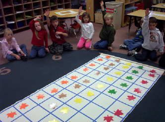 A ton of great graphing activities.  Make a floor graph using a shower curtain or table cloth; mark the grid with tape or permanent marker.