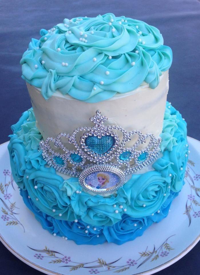 Frozen cake Elsa cake princess cake tiara cake birthday girl