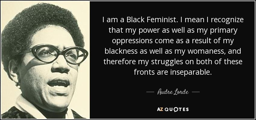 Image result for audre lorde woman vs black