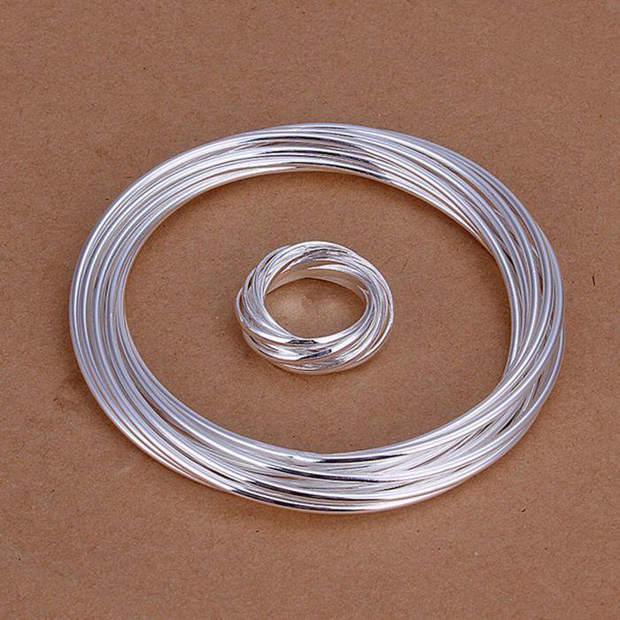 925 schmuck versilbert schmuck-set, Nickel frei antiallergic 10 Strands Ring Armband-Schmuck-Set nissen cqzr