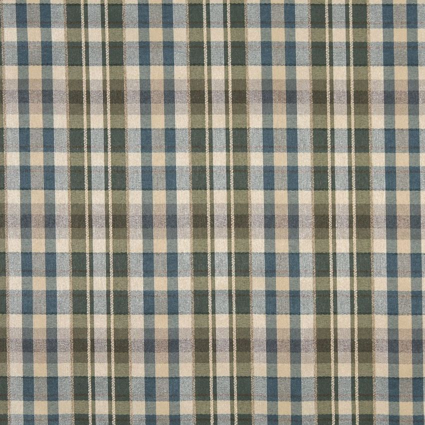 Beige And Dark Blue Country Linen Upholstery Fabric Linen