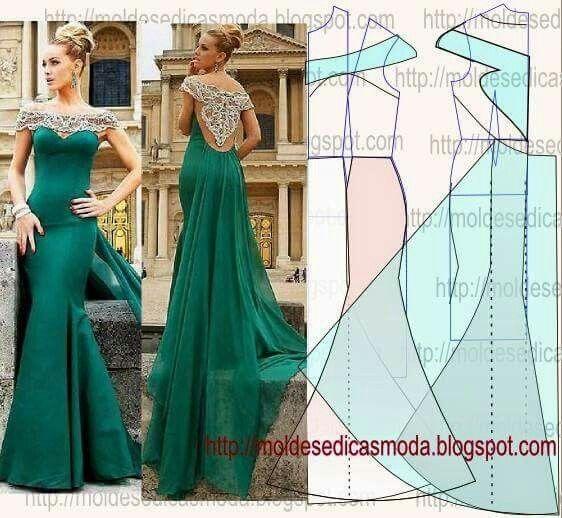 Corte y confeccion vestidos largos