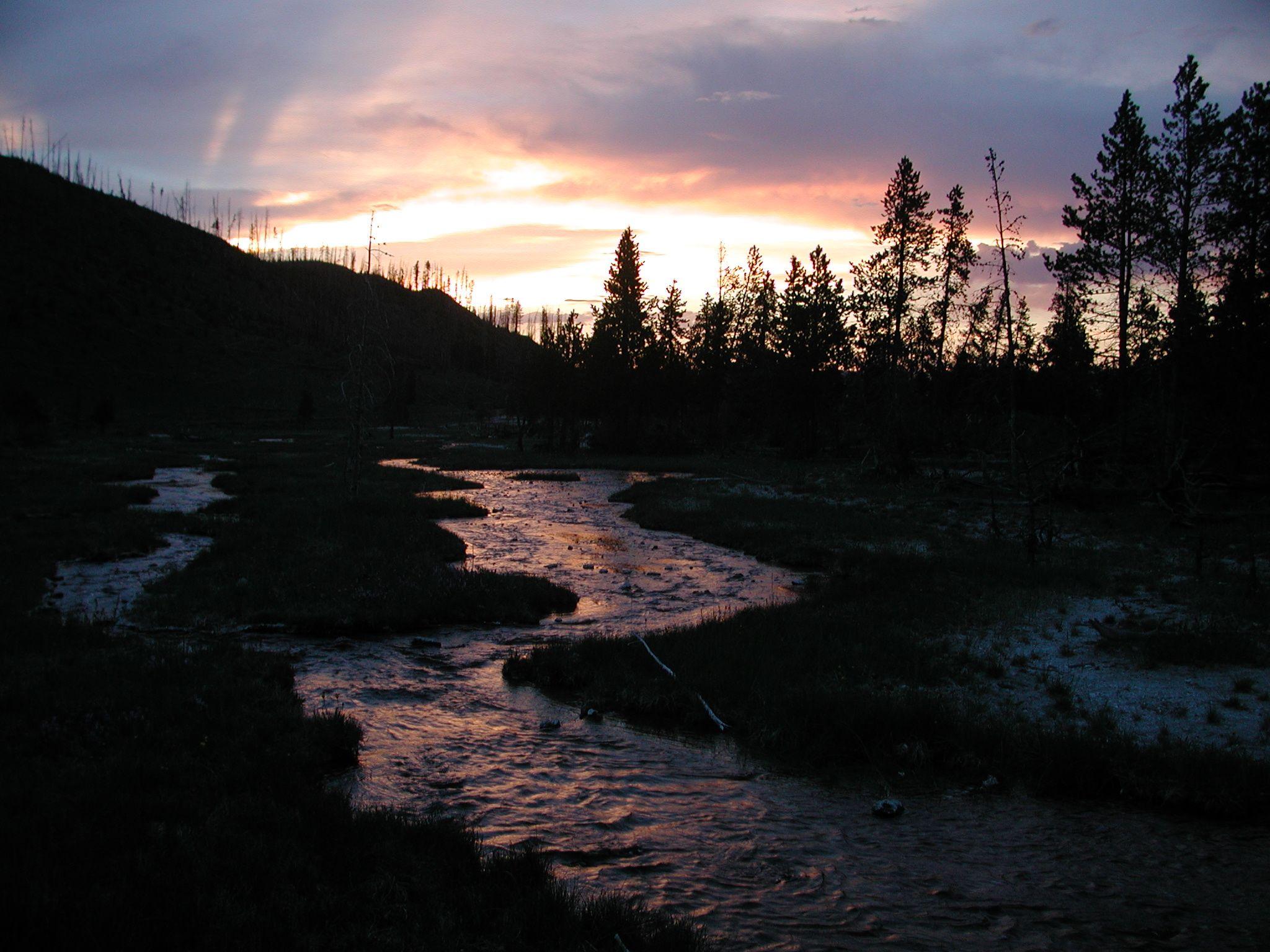 Yellowstone Sunset Yellowstone National Park