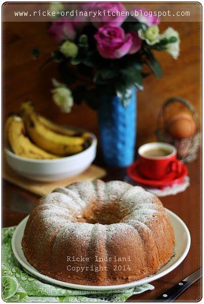 Banana Sponge Cake By Ricke Makanan Pinterest
