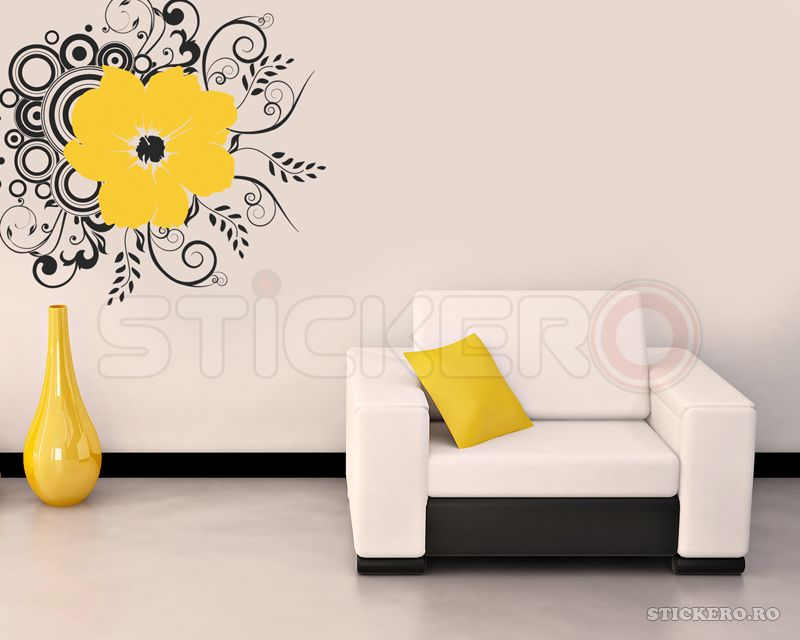 Floare abstracta - sticker decorativ