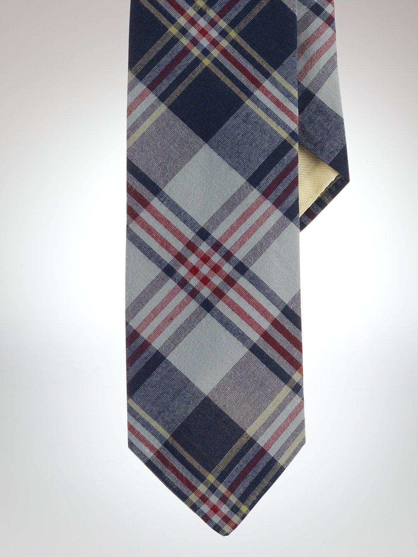 Narrow Plaid Madras Tie - Ties Ties & Pocket Squares - RalphLauren.com.