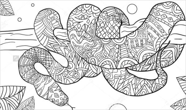 lizard and snake coloring pages - photo#37