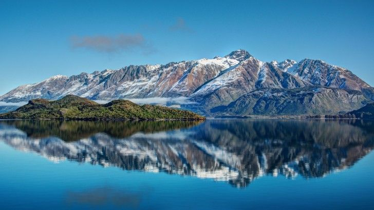New Zealand Mountains Lake Sea