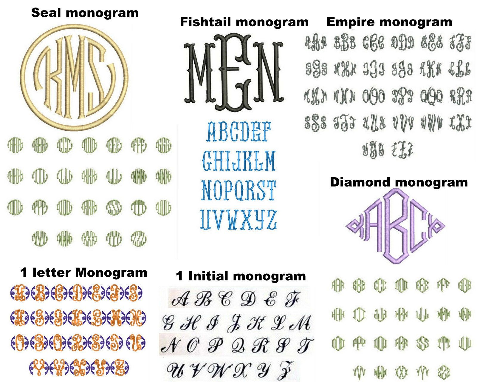 Add On Custom Embroidery Initials Or Name Monogram Embroidery